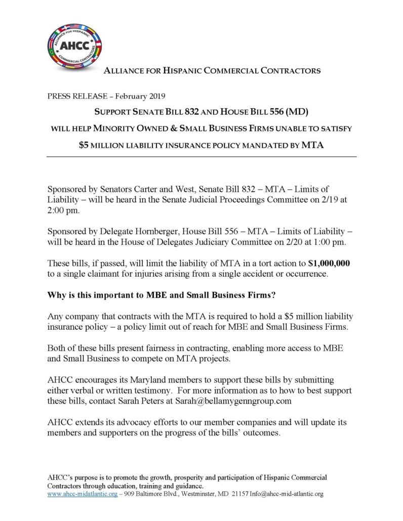 Press Release MTA Bills